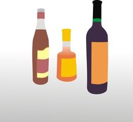 Бутылки с напитками