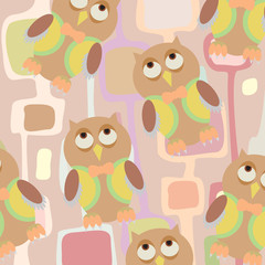 Seamless children background pattern