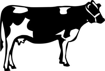 Cow Vinyl Ready Vector Illustration