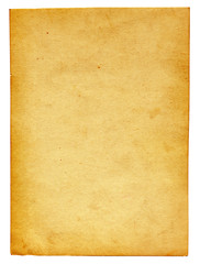 vintage paper page isolated on the white