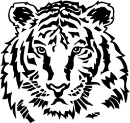 Tiger Vinyl Ready Vector Illustration