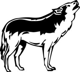 Wolf Vinyl Ready Vector Illustration