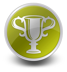 """Yellow Glossy Icon """"Award Cup"""""""