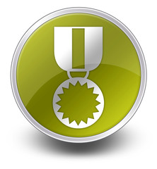 "Yellow Glossy Icon ""Award Medal"""