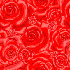 Series. Seamless wallpaper pattern with rose