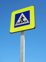 panneau de signalisation piétons