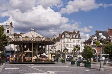 Rue Grande à Fontainebleau - France