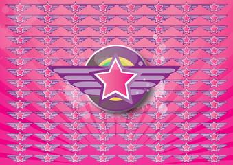 Hintergrund Stern Flügel