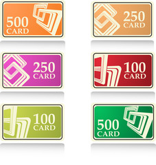 the color vector gift and bonus cards set