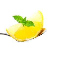 Zitrone auf Löffel