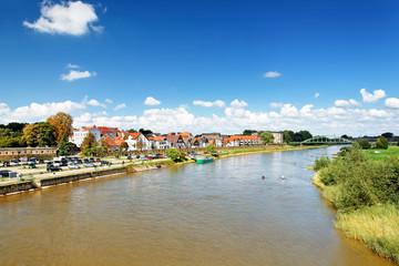 Blick auf Minden mit Fischerstadt an der Weser