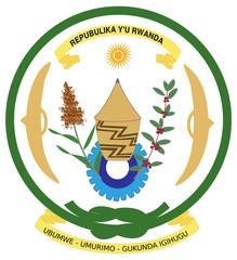Fototapete - Rwanda Coat of Arms