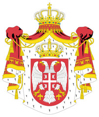Wall Mural - Serbia Coat of Arms