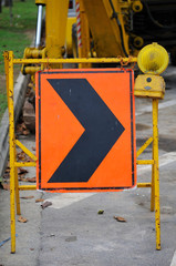 Righ arrow during construction