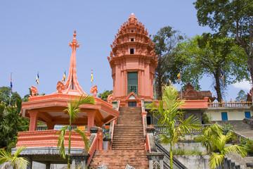 Buddhist temple in Sihanouk Ville, Cambodia.