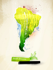 abstract illustration of the continent South America