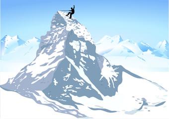 Berge Matterhorn klettern