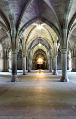 Gothic church cloisters