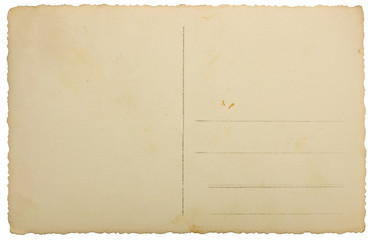 Vintage photo background with address lines, isolated