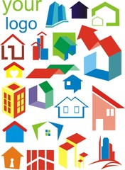 set of logotips