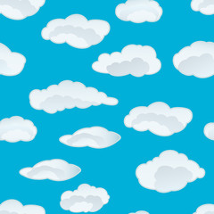Printed roller blinds Heaven clouds seamless