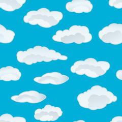 Keuken foto achterwand Hemel clouds seamless