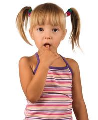 Portrait of emotionally kid