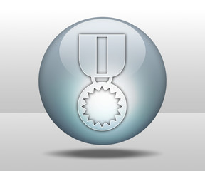 "Hovering Sphere Button ""Award Medal"""