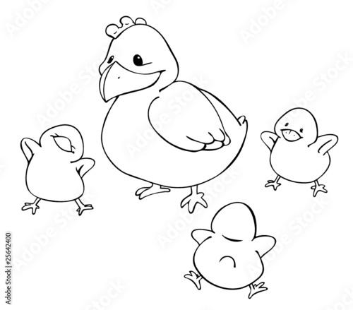 """""""huhn küken henne ostern hühner familie mutter"""