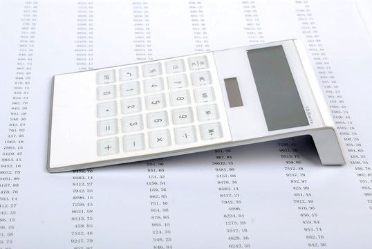 calculator with financial statement
