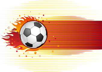 soccer and flame