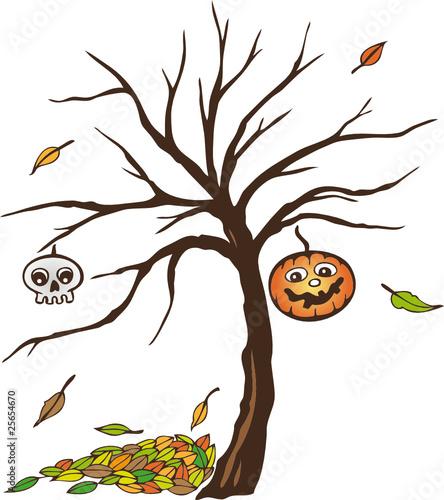 Halloween k rbis bl tter baum comic bunt stockfotos - Baum comic bilder ...