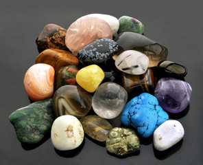 Collection of semi-precious gemstones