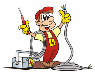 Job: Electrician with Toolbox