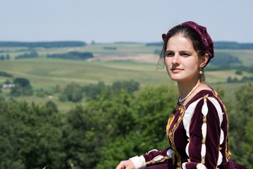 Young woman in renaissance dress