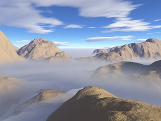 Nebel im Gebirge