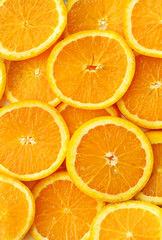orange slices texture