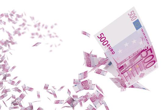 Volée de billets de 500 euros 1