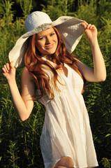 beautiful redhead smiling