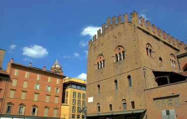 Main square in Bologna, Italy
