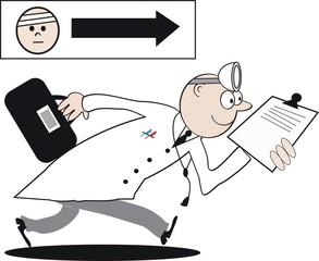 Keen doctor cartoon