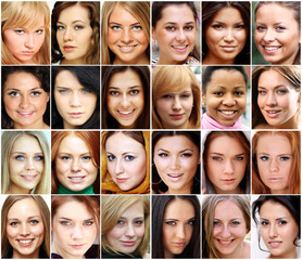 Portrait of beautiful young women