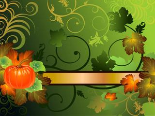 Zucca e foglie