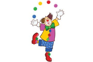 Color illustration of funny joy clown