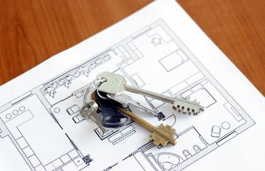 Keys on the plan of flat