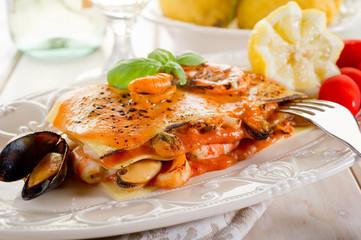 fish lasagne- lasagne di pesce