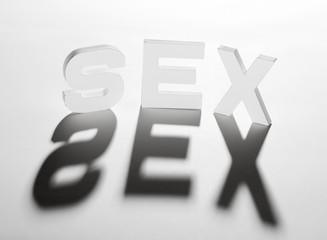 concept mot sex ombre et lumière
