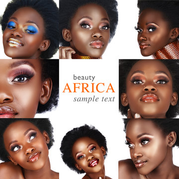 collage of African woman