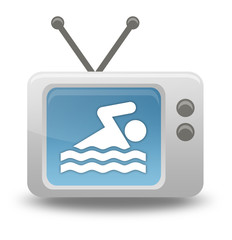 "Cartoon-style TV Icon ""Swimming"""