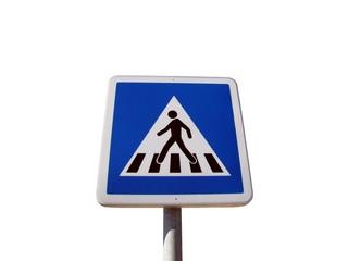 Panneau de signalisation de passage protégé piétons
